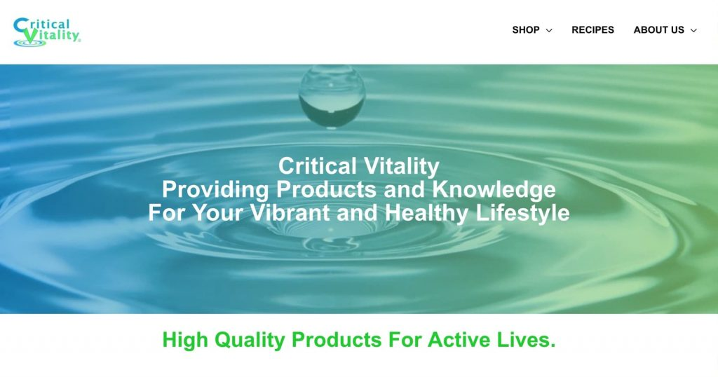 Critical-Vitality-Home-Page